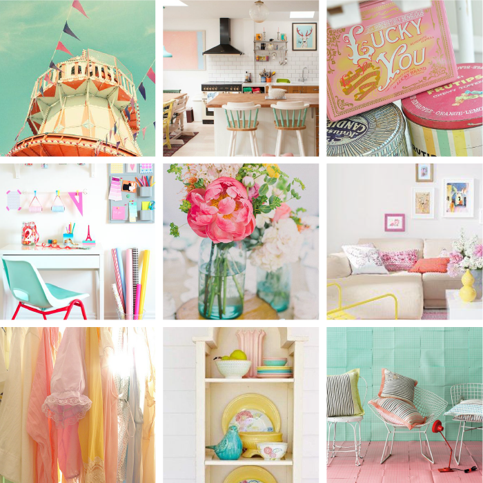 "More Inspiration & Word Art to Go With this Week's ""Mood Board"" Color Combo…"