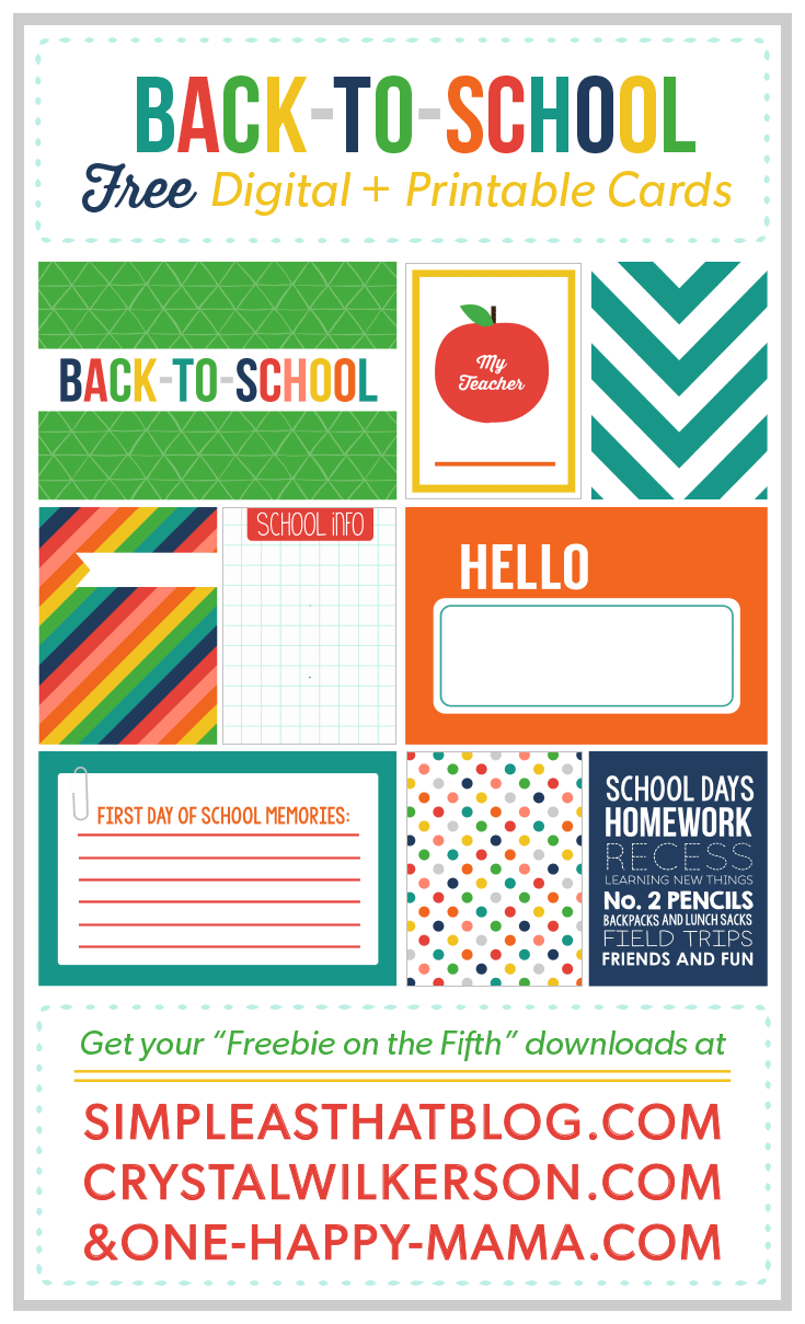 Freebie on the Fifth – Back To School Edition