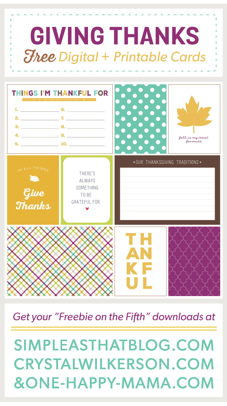 Freebie on the Fifth – November Edition